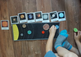 Sluneční soustava a kartičky ke stažení